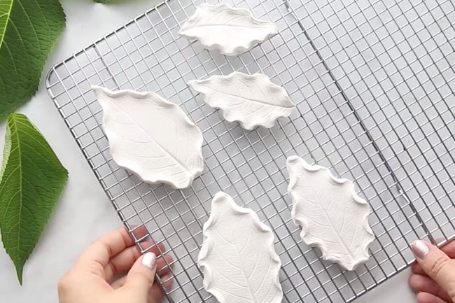 Air Dry Clay Leaf Clay Dishes
