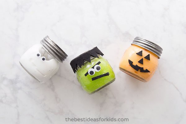 Cute Halloween Slime Jars