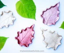 DIY Leaf Clay Dish
