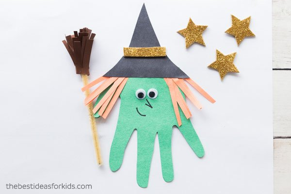 Handprint Witch Halloween Craft