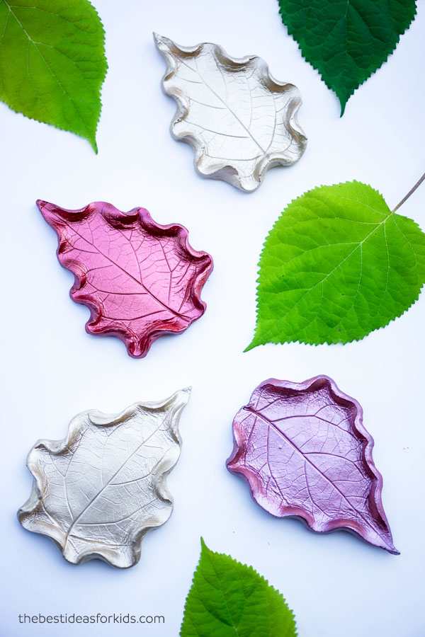 Leaf Clay Dish Craft for Kids