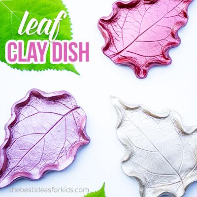 Leaf Clay Dish DIY Craft for Kids