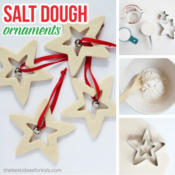 Salt Dough Christmas Decorations - Salt Dough Handprint Ornament - The Easiest Way To Make Salt Dough!