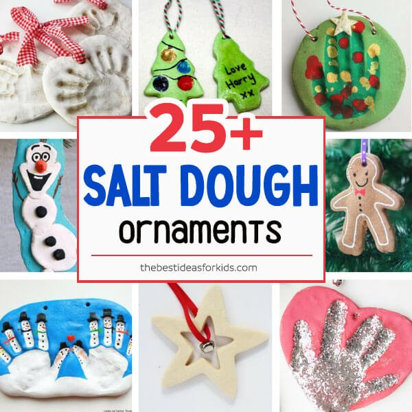 Salt Dough Recipe Ideas - Salt Dough Handprint Ornament - The Easiest Way To Make Salt Dough!