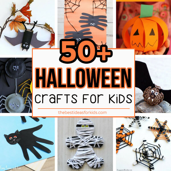 photo relating to Halloween Crafts for Kids+free Printable known as 50+ Halloween Crafts for Children - The Easiest Options for Young children