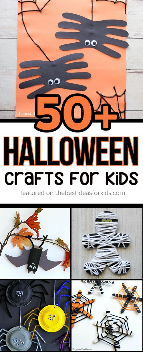 photograph regarding Halloween Crafts for Kids+free Printable known as 50+ Halloween Crafts for Small children - The Simplest Tips for Little ones