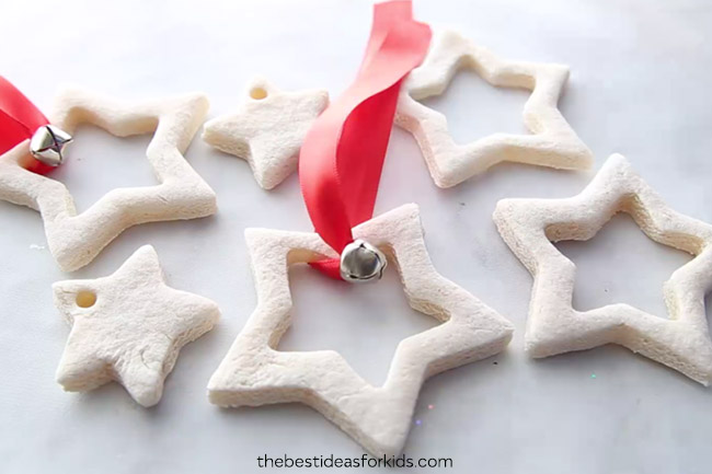 Christmas Star Salt Dough Ornaments