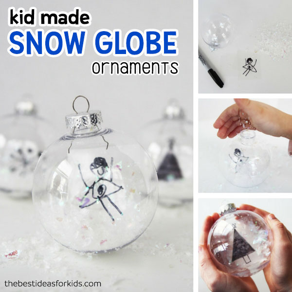 DIY Snow Globe Ornaments - The Best Ideas for Kids