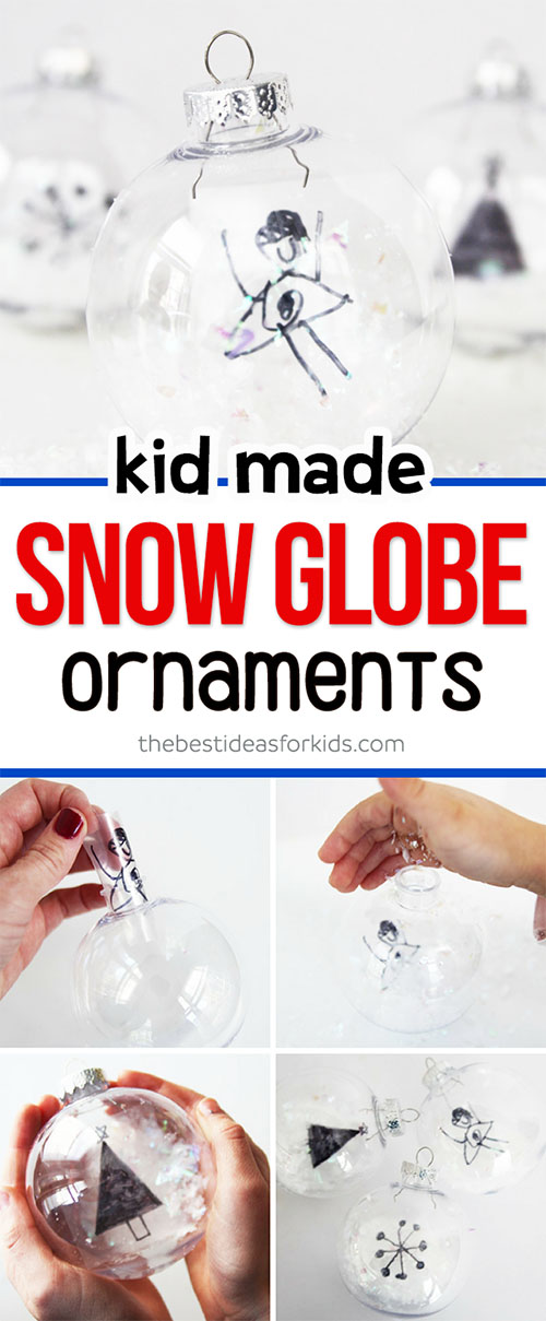 Kid Made DIY Snow Globe Ornaments