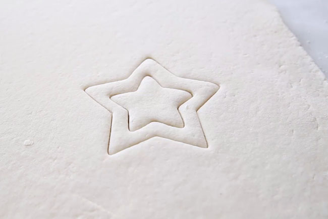Star Cut Outs for Salt Dough Decorations