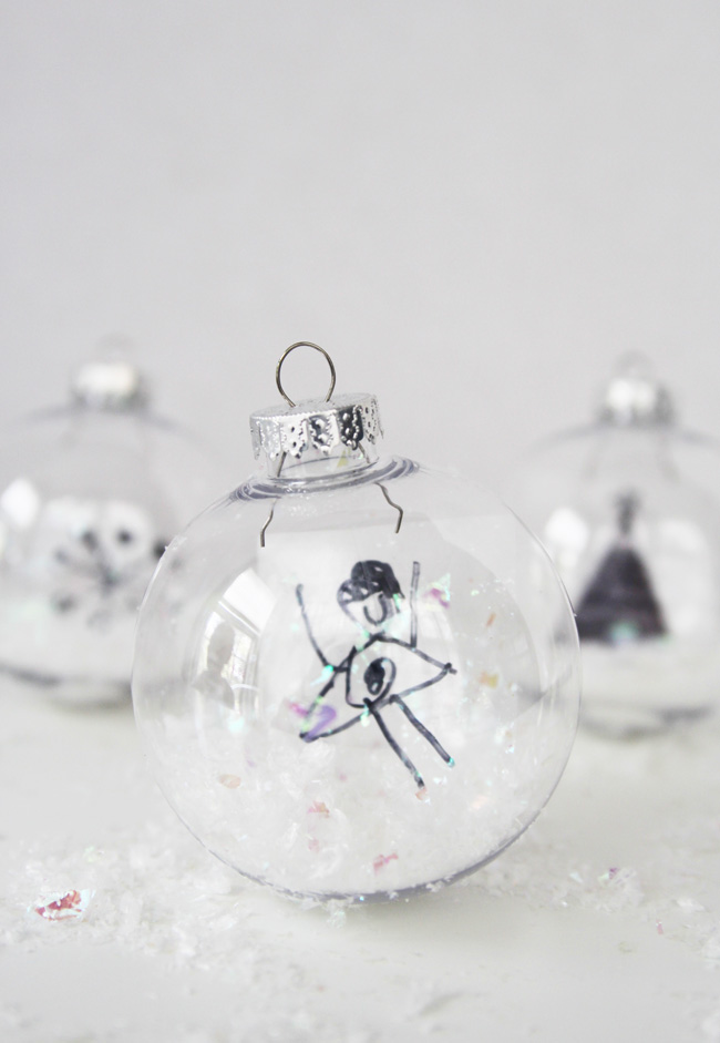 snow globe ornaments