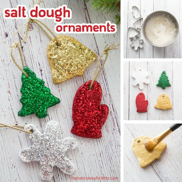 Best Salt Dough Recipe Christmas Ornaments - Salt Dough Handprint Ornament - The Easiest Way To Make Salt Dough!