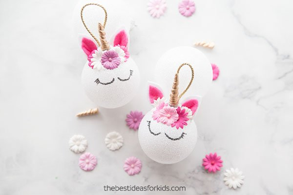 DIY Unicorn Ornaments