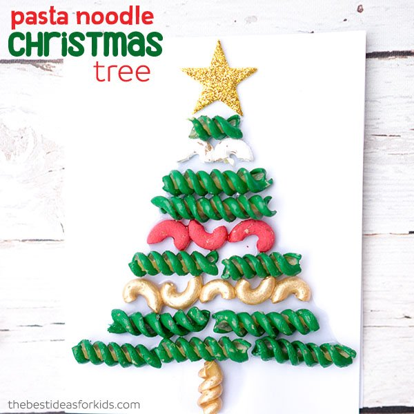 Christmas Tree Pasta And Macaroni Craft The Best Ideas For Kids