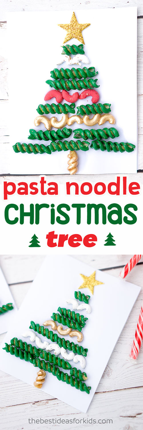 Pasta Noodle Christmas Tree Craft