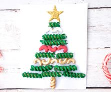 Pasta Noodle Christmas Tree Macaroni Craft
