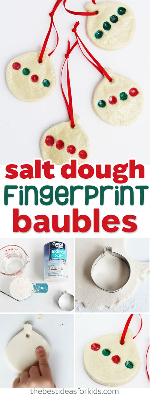 Salt Dough Fingerprint Ornament