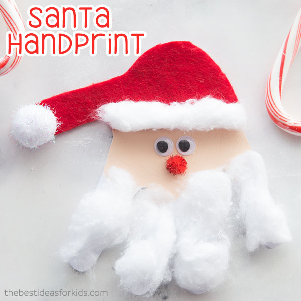 Santa Handprint Craft - The Best Ideas for Kids