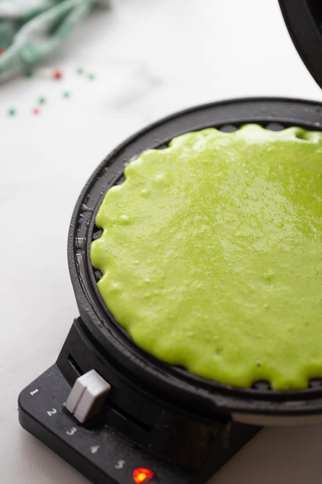 Add Batter to Waffle Maker