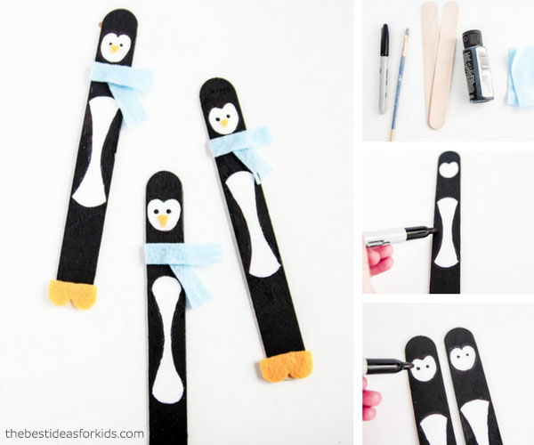 DIY Bookmark Penguin