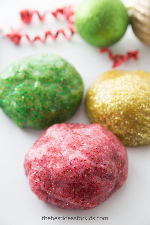 Glitter Slime Recipe for Christmas