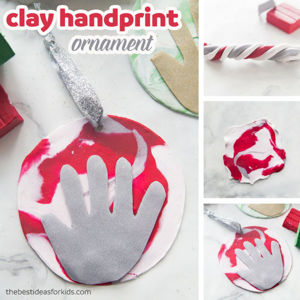 Polymer Clay Handprint Ornament