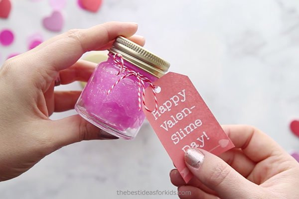 Add Gift Tags to Valentine Jars