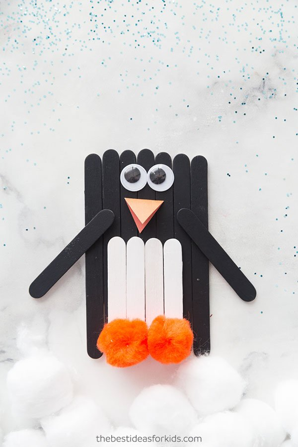 Craft Stick Penguin Craft