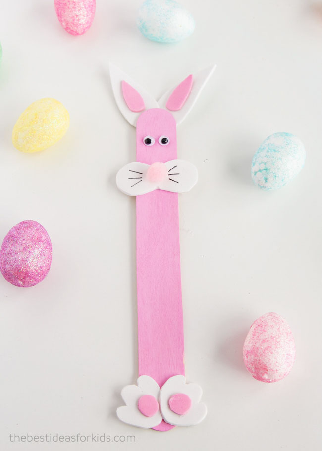 Easter Bunny Craft Popsicle Sticks