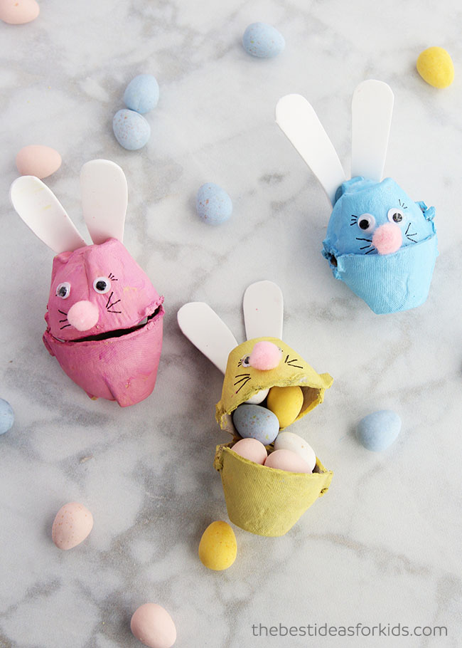 Egg Carton Bunnies Craft