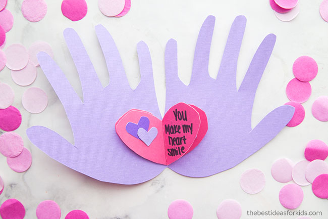 Handprint Valentine Card
