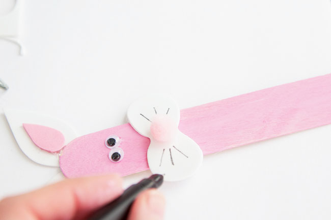 Make a Popsicle Stick Easter Bunny