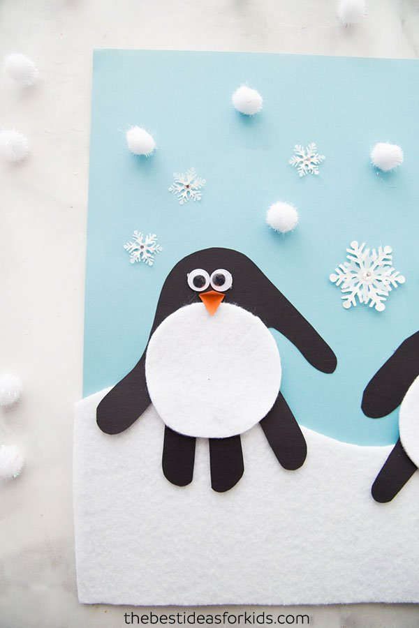 Handprint Penguin The Best Ideas For Kids