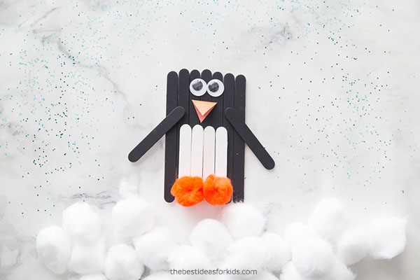 Popsicle Stick Penguin