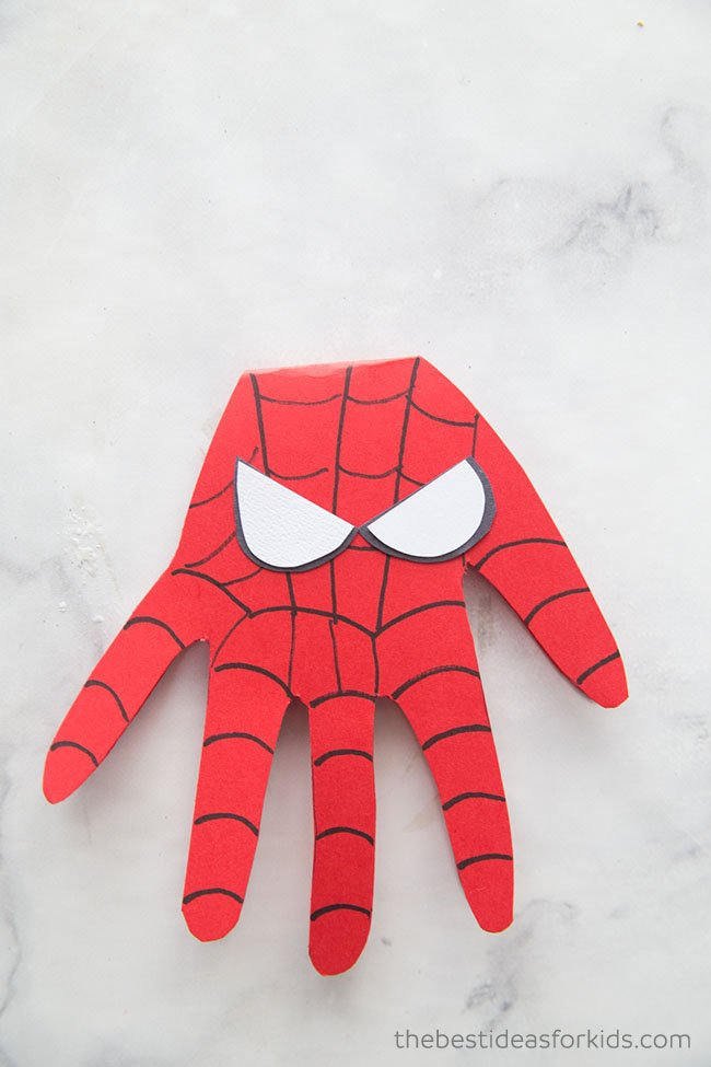 Spiderman Handprint Card