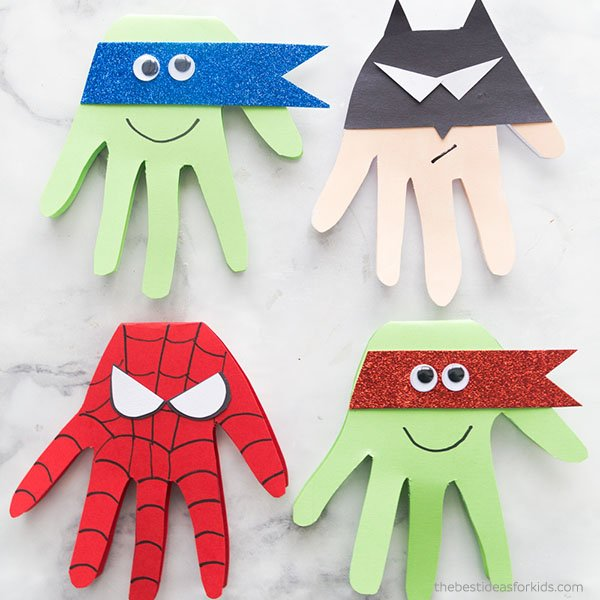 Super Hero Craft Cards