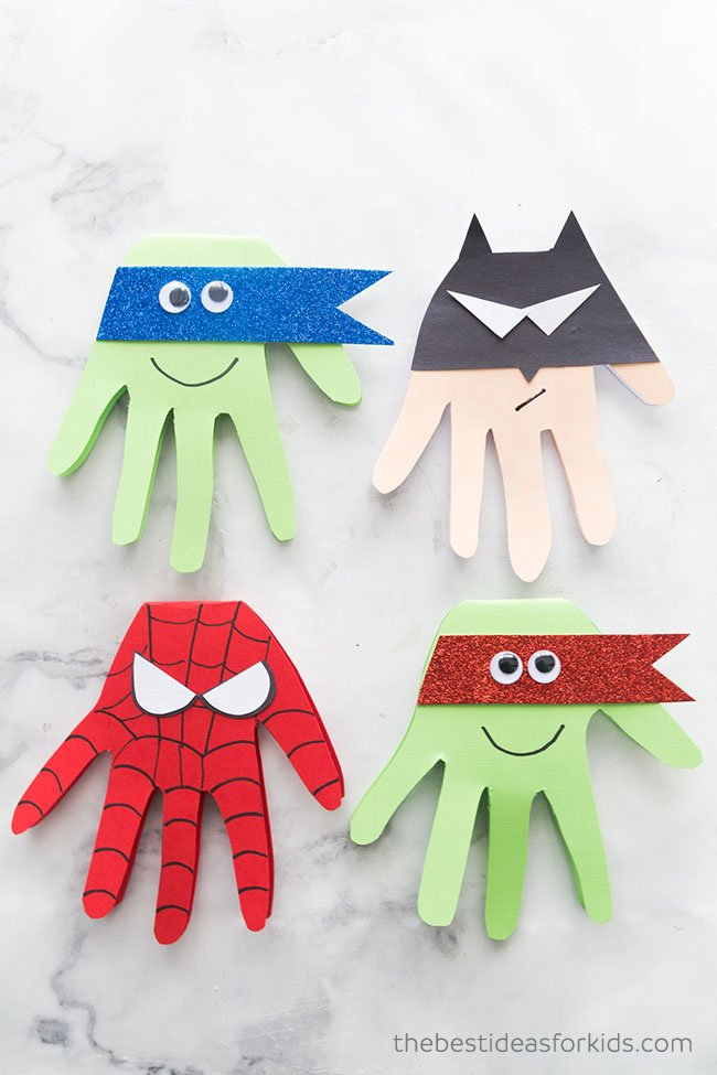 Superhero Craft Superhero Handprints The Best Ideas