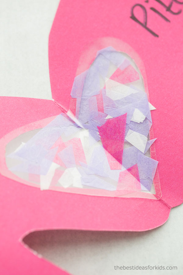 Tissue Paper Love You to Pieces Craft