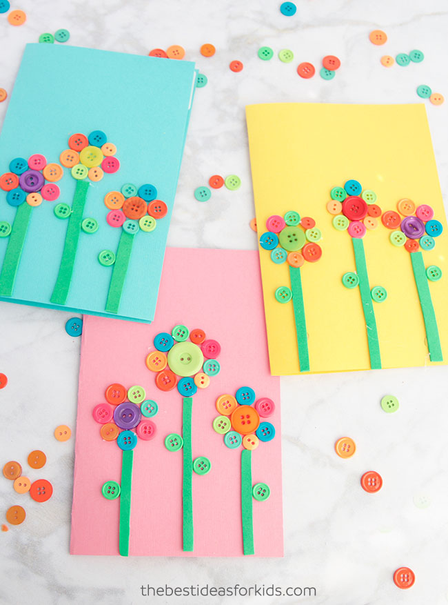 Flower Button Art The Best Ideas For Kids