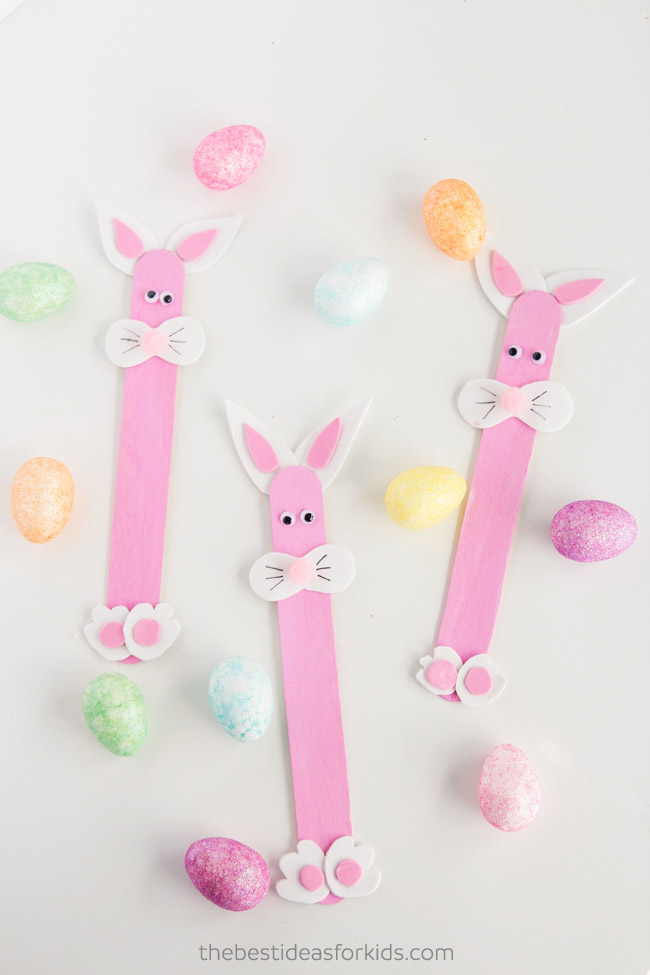 Popsicle Stick Easter Bunny Craft