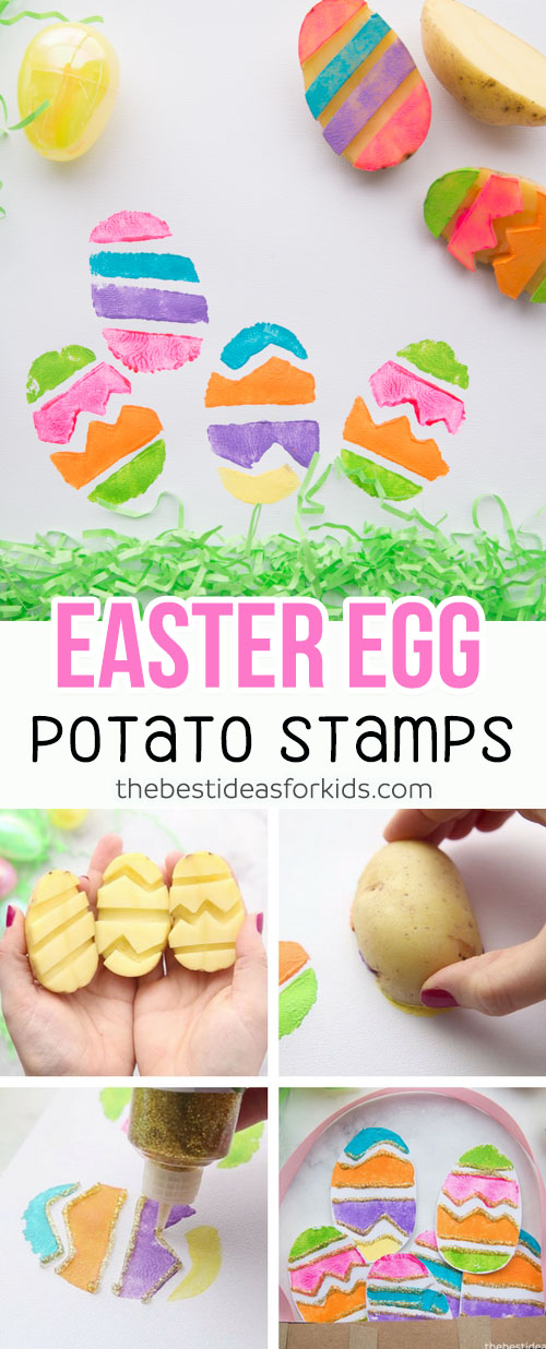 Easter Egg Potato Stamp Easter Craft for Kids