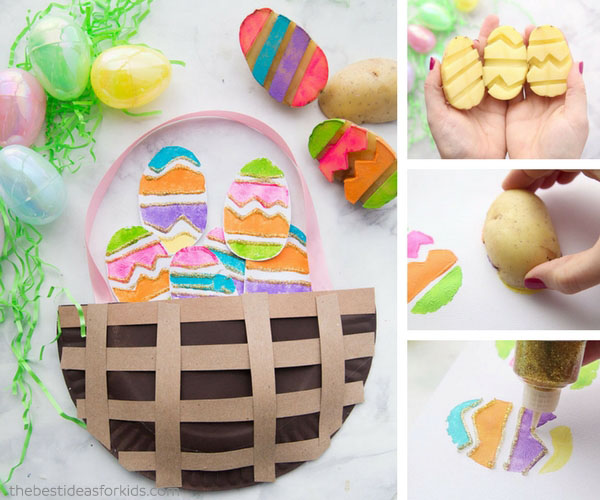 More Easter Crafts for Kids & Easter Paper Plate Basket - The Best Ideas for Kids