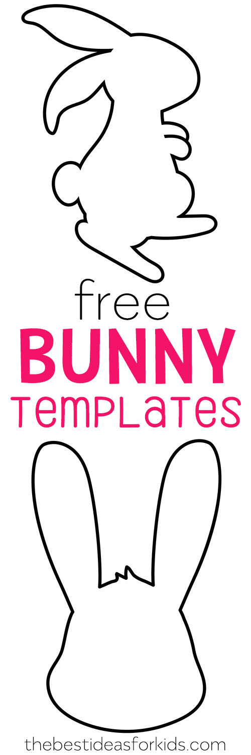 photograph relating to Easter Bunny Printable titled Easter Bunny Template - The Perfect Tips for Young children