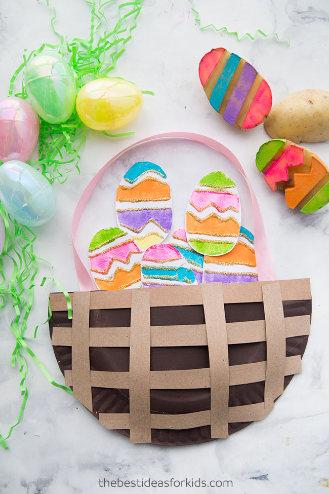 Easter paper plate basket the best ideas for kids easter paper plate basket negle Images