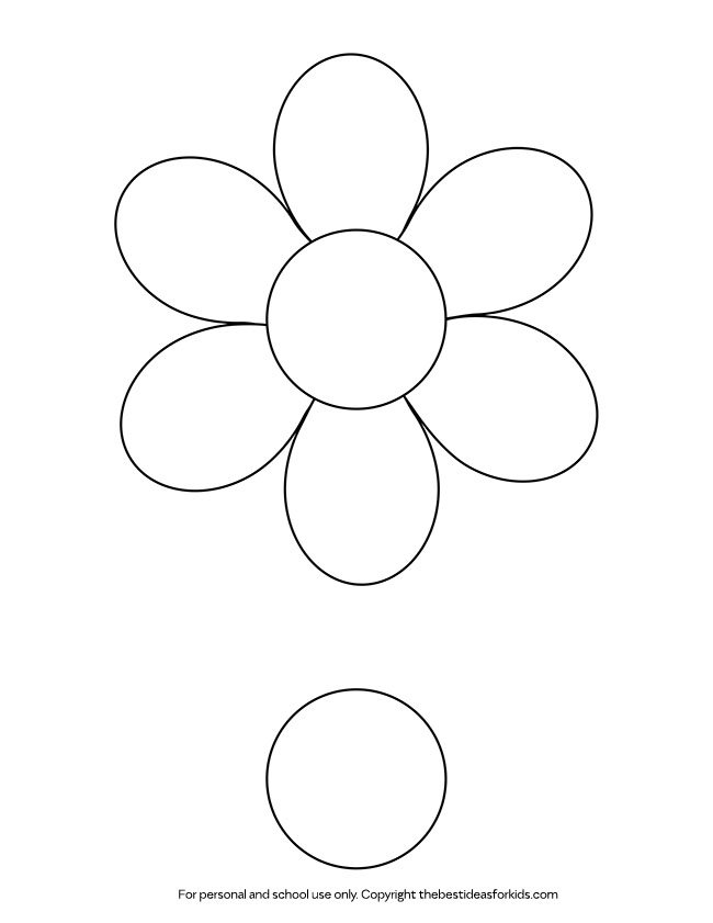 image relating to Free Printable Flower Templates identify Flower Template - The Easiest Programs for Young children