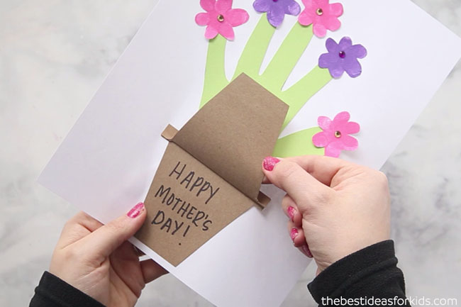 Handprint Flower Pot for Mother's Day