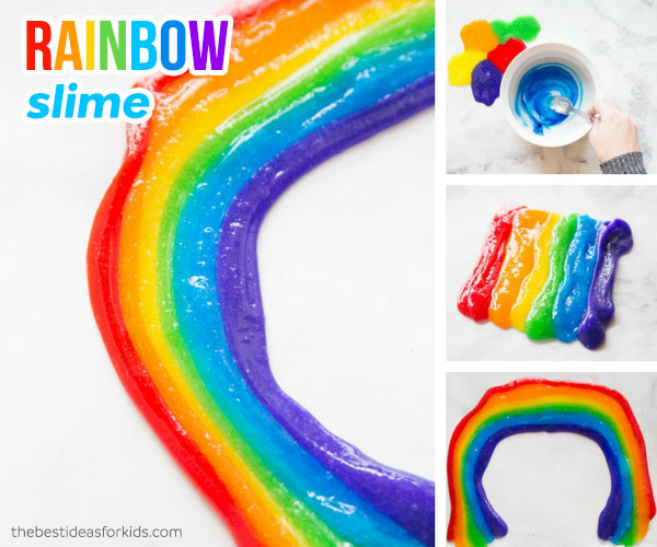 How to Make Rainbow Slime Recipe