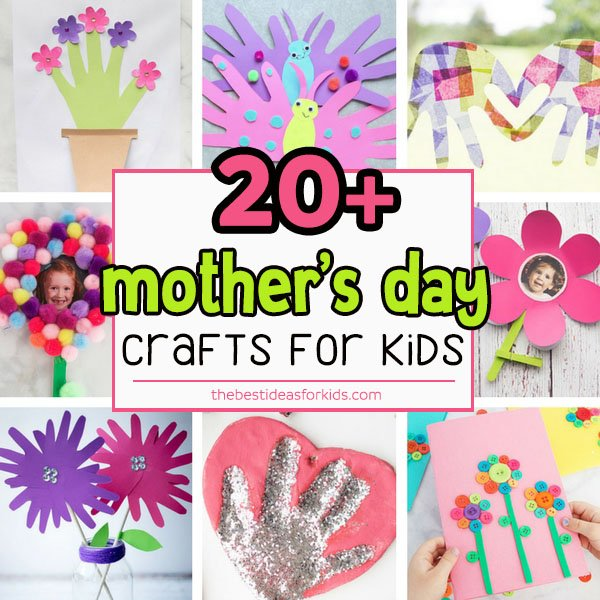 Mother's Day Crafts for Kids and Preschoolers