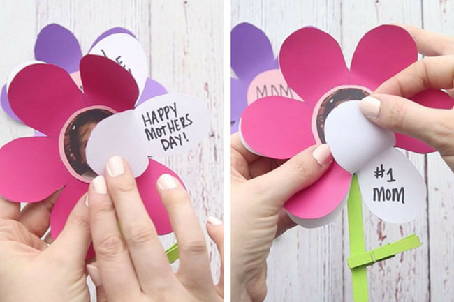 Mother's Day Flower Template Craft
