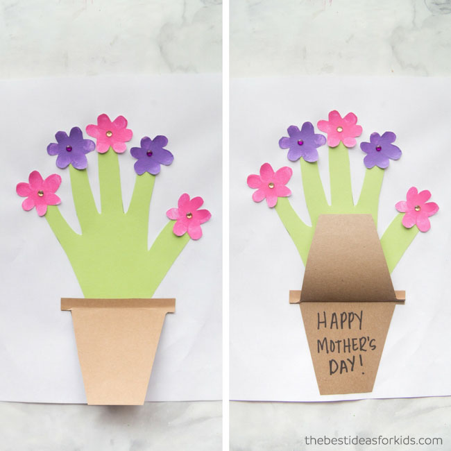 Mother's Day Handprint & Fingerprint Flower